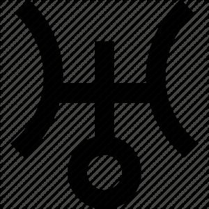 Uranus astrology symbol
