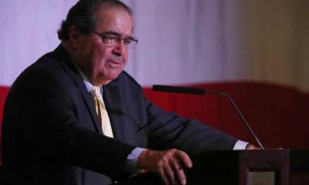 Justice Scalia Checks Out