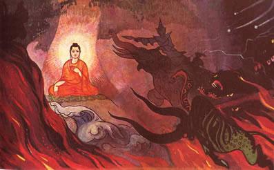 The War in the Earth - Buddha and Mara
