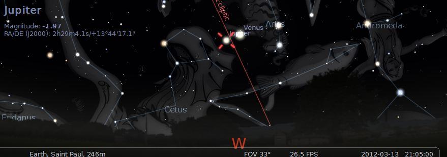 Venus Jupiter Conjunction March 2012